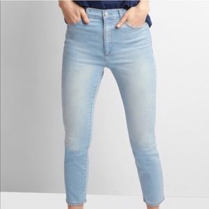 Gap True Skinny Super High Rise Crop Jeans